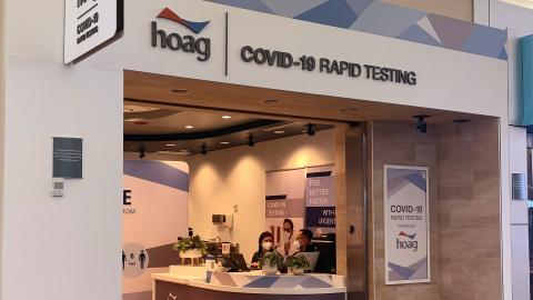 Hoag Rapid Testing store front