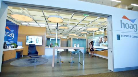 Hoag Fly Well Clinic at John Wayne Airport
