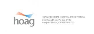 Hoag logo and contact block