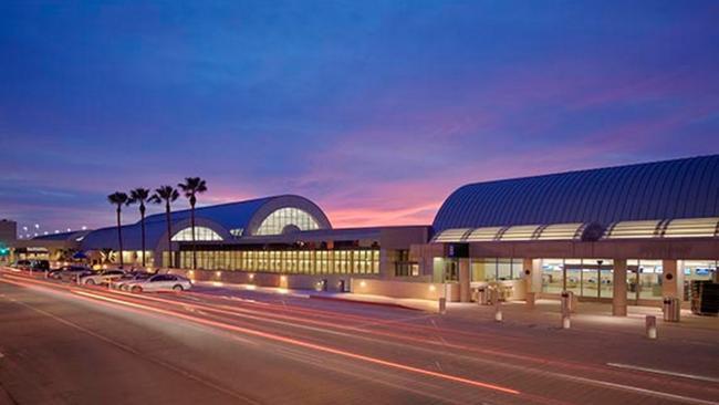 Nighttime photo of Airport