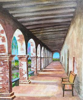 Arched Walkway at Noon (Acrylic on Canvas, 2014)