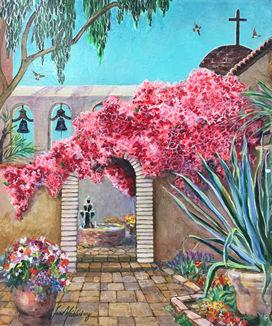 Bell Court Fountain (Acrylic on Canvas, 2013)