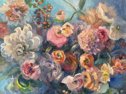 Andrea Tarman-Velveteen Dance-Oil on canvas-2021