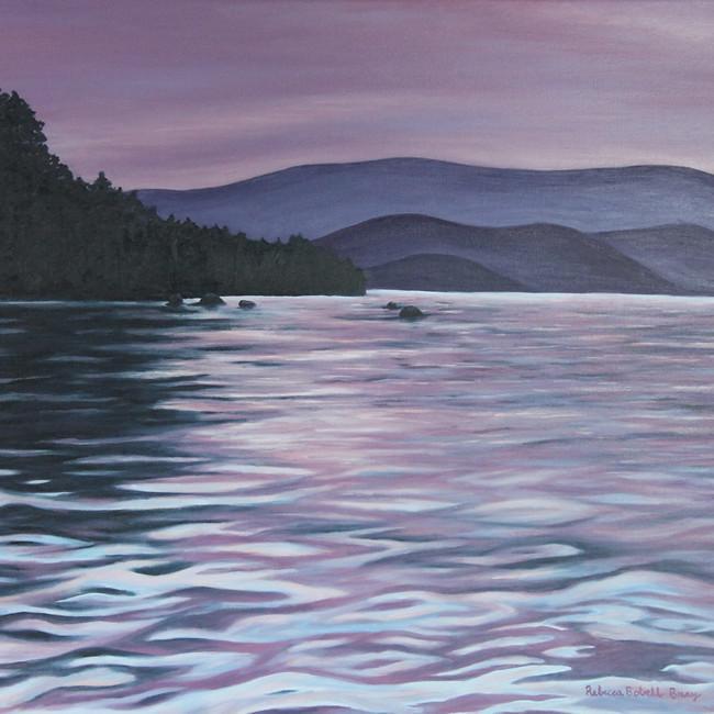 LAKE TAHOE SUNSET_Rebecca Bray_Oil Painting_2020