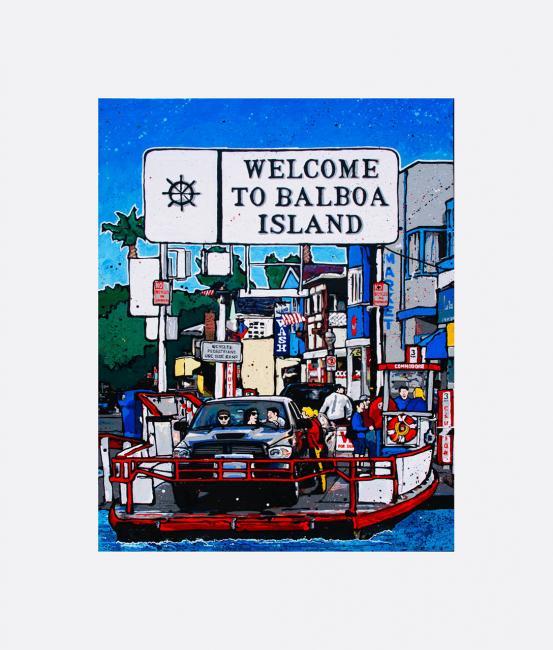 Balboa Ferry - Acrylic Paint - 2016