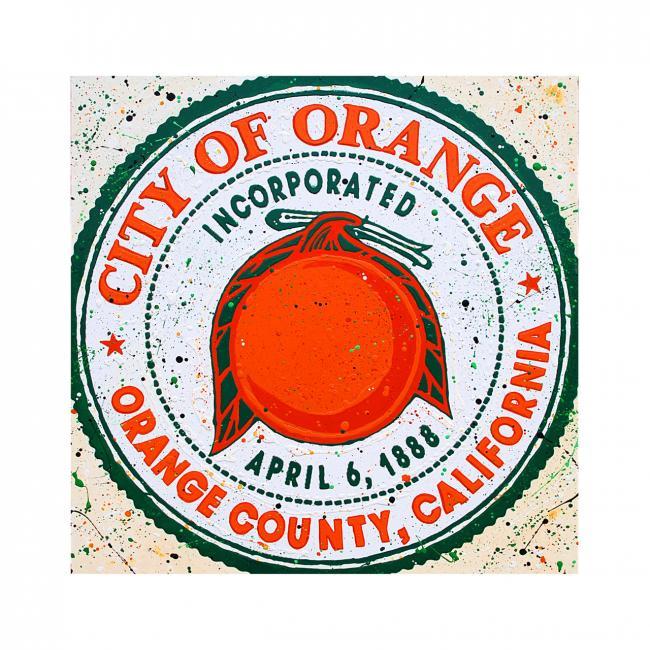 City of Orange  - Acrylic Paint - 2018