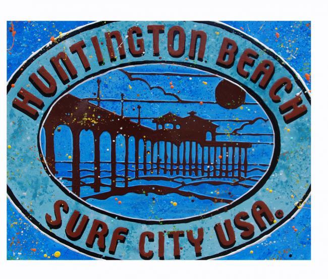 Huntington Beach - Acrylic Paint - 2020